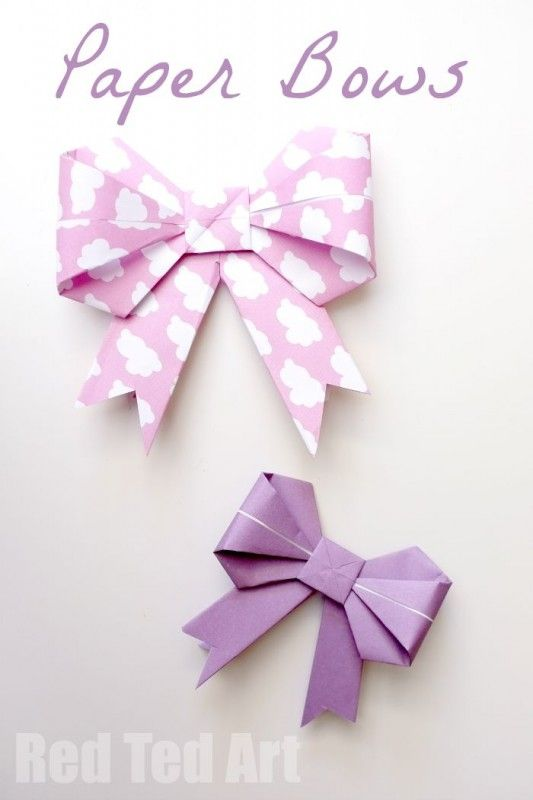 Gorgeous Paper Bows These Look So Lovely On Brown Parcels Learn How To Make Them Today