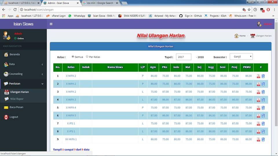 Source Code Sistem Informasi Data Siswa Berbasis Codeigniter Aplikasi