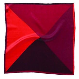 Red Multi Shade Printed Silk Handkerchief - Woven Silk Handkerchiefs - Fashion Handkerchiefs - Accessories