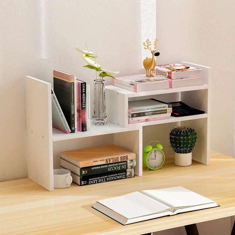 Creative Computer Desk Bookshelf Simple Shelf Small Office Storage