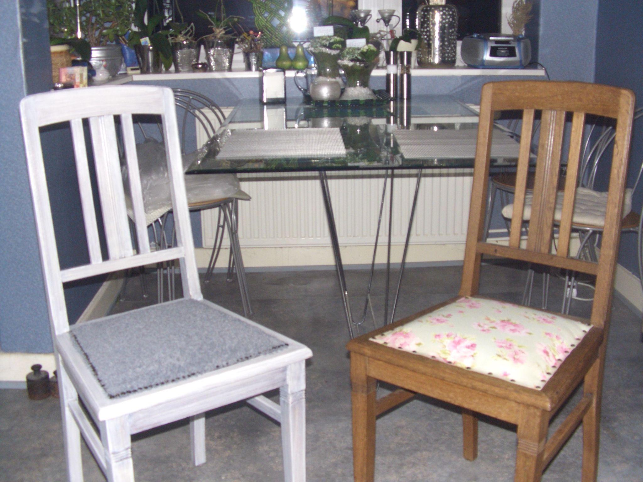 Alte Stühle neu gestalten Meine Werke Dining chairs