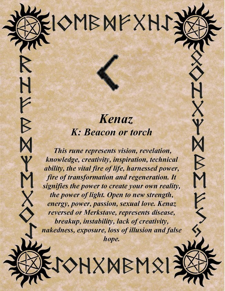 kenaz the torch rune norse mythology and vikings pinterest runique sorciere et runes. Black Bedroom Furniture Sets. Home Design Ideas