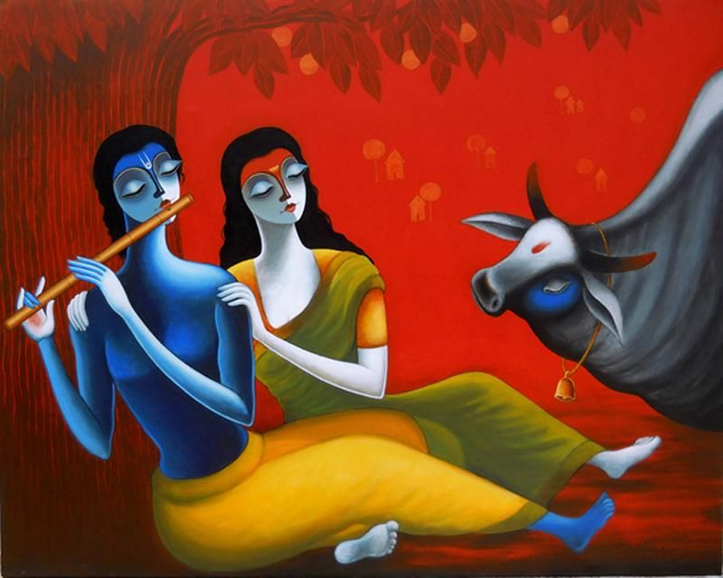 Romantic Couple by Santosh Chattopadhyay