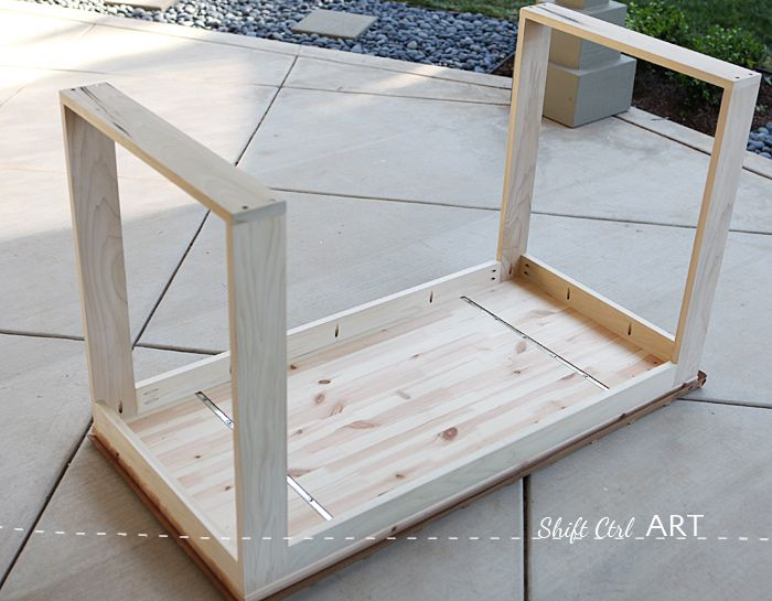 IKEA hack: how to build a white desk with a miter