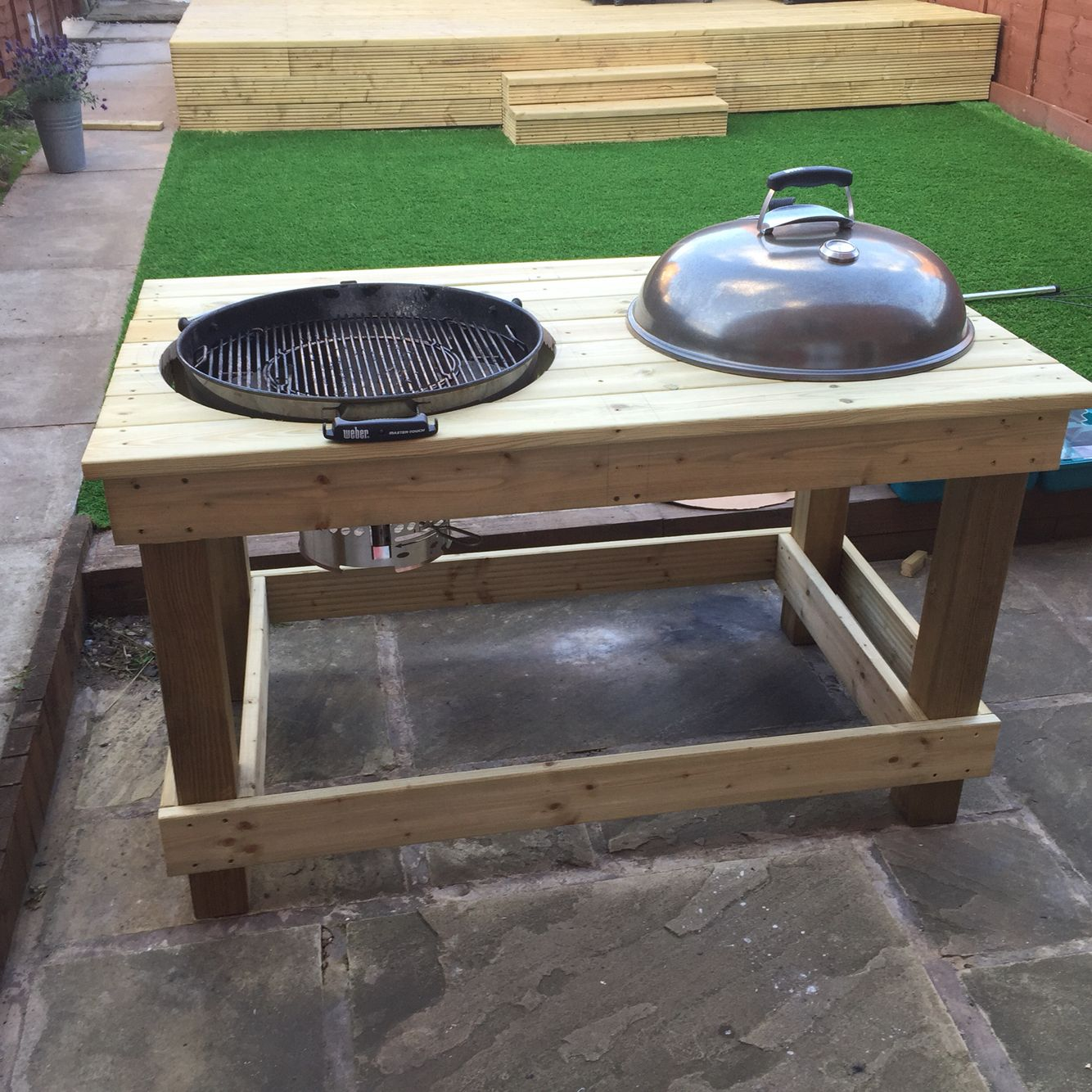 Bbq Outdoor Küche 57 Quot Weber Table Mod Not Quite Complete Fire Pits