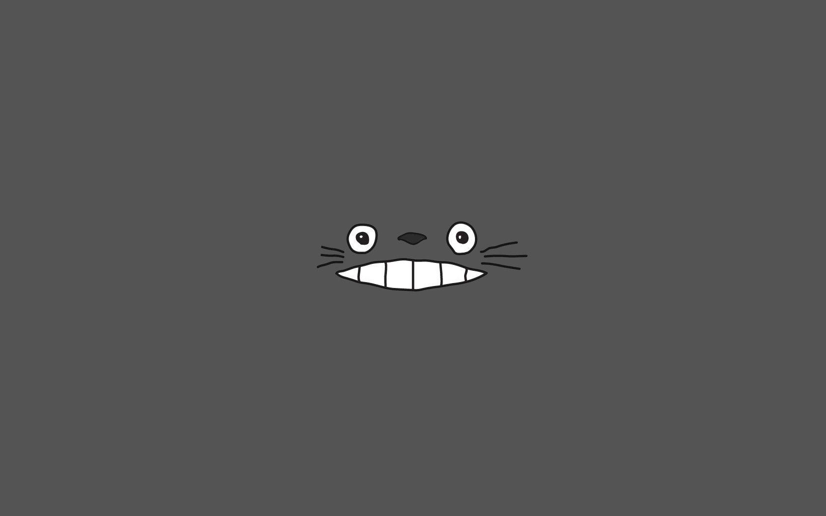My Neighbour Totoro Studio Ghibli Simple Background 1680x1050 Wallpaper 배경화면 아이폰 디즈니 배경화면 노트북 배경화면