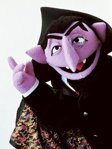 Count Von Count From Sesame Street Seasame Street