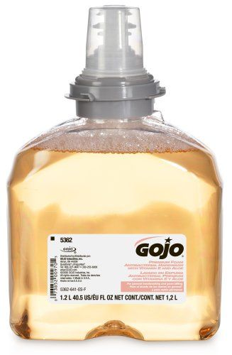 Black Friday GOJO 5362-02 1200 mL Premium Foam Antibacterial Handwash (Case of 2) from Gojo