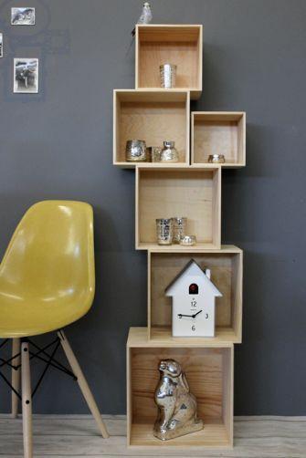 Stacking Storage Shelf Display Cubes, Stacking Furniture Cubes