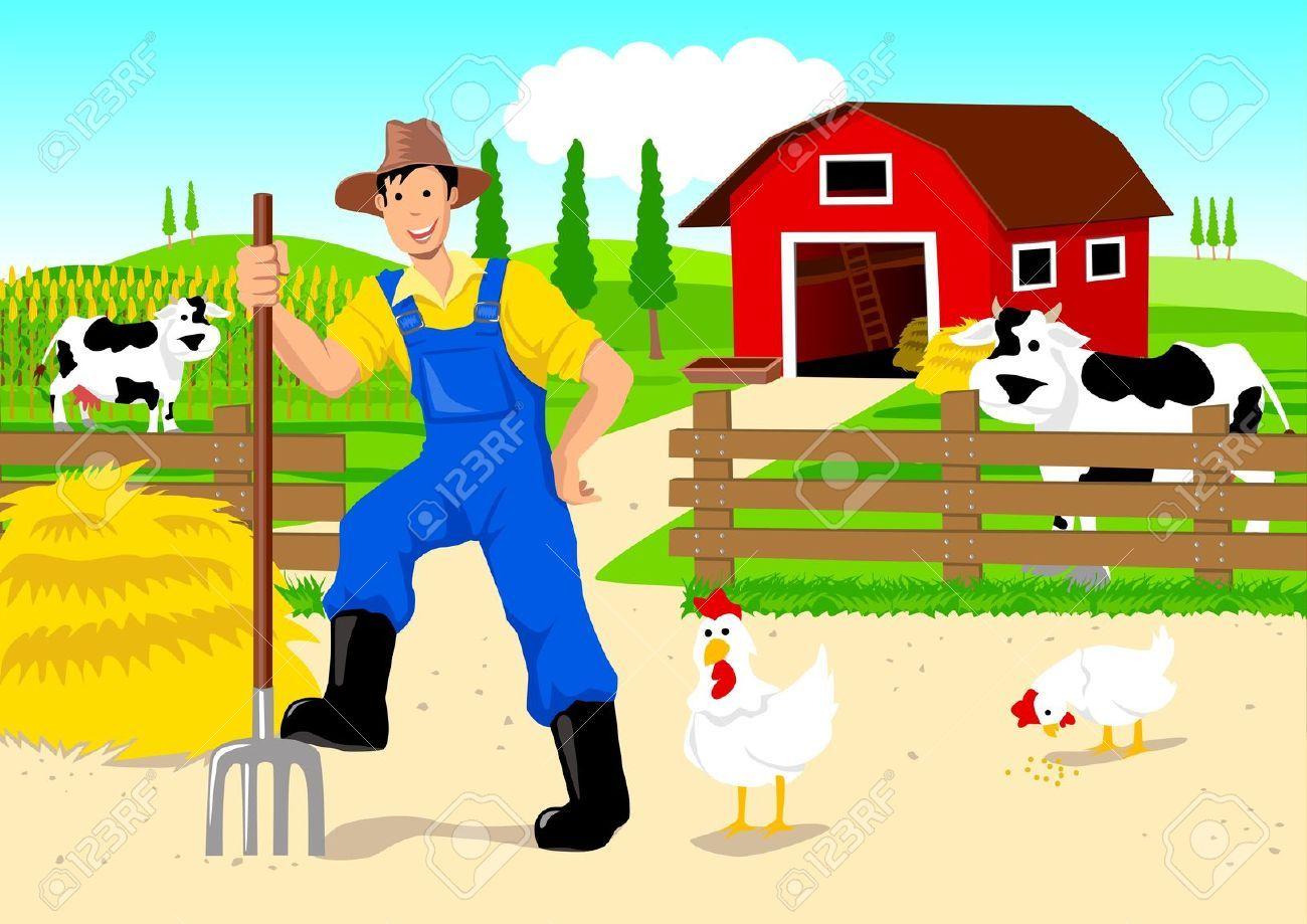 Farmer In Cartoon Cartoon Photo Stock Illustration Farmer
