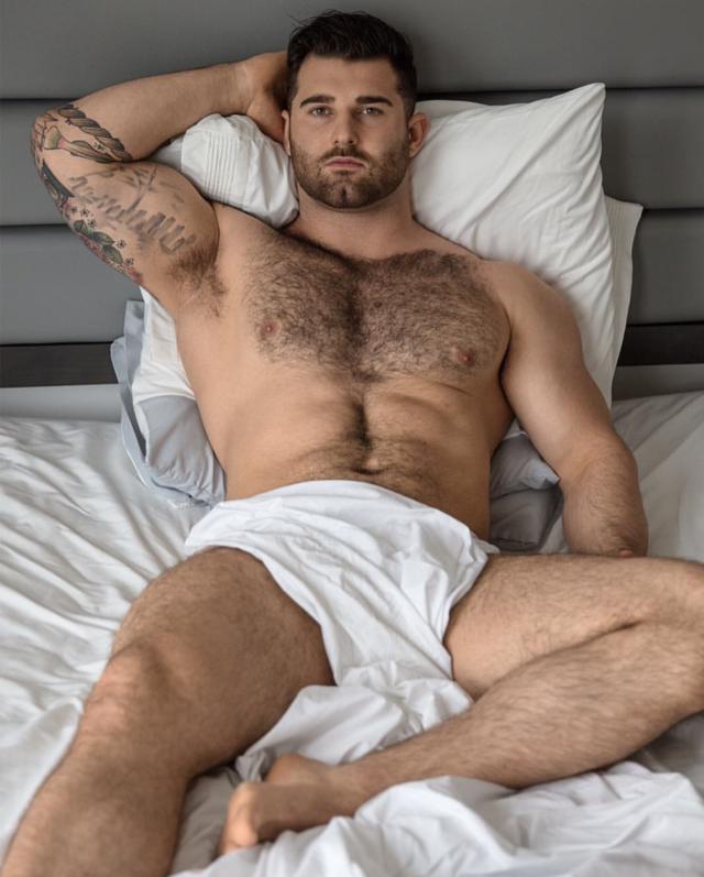 White hairy gay