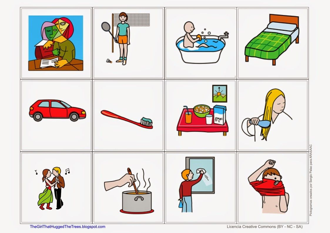 Daily Routines Flashcards Free Language Speech Therapy