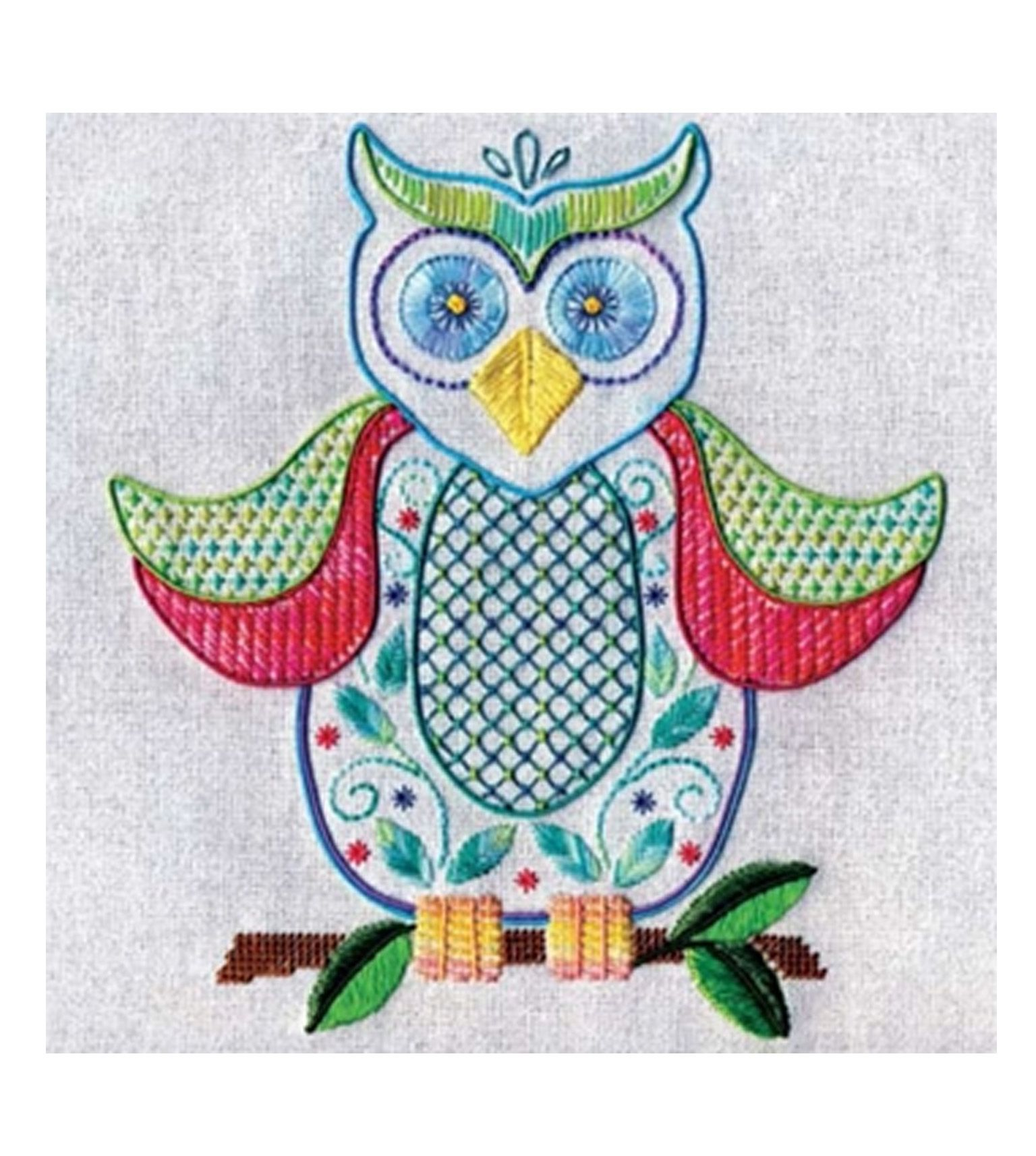 ordinary Owl Embroidery Pattern Part - 14: owl embroidery pattern. Download free project here:  http:--dmc-usa.com-Inspiration-Projects-Memory-Thread-Cross-Stitch-Spring- Owl.aspx