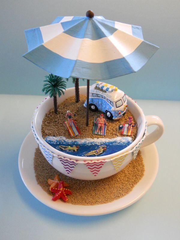how to make a beach scene craft