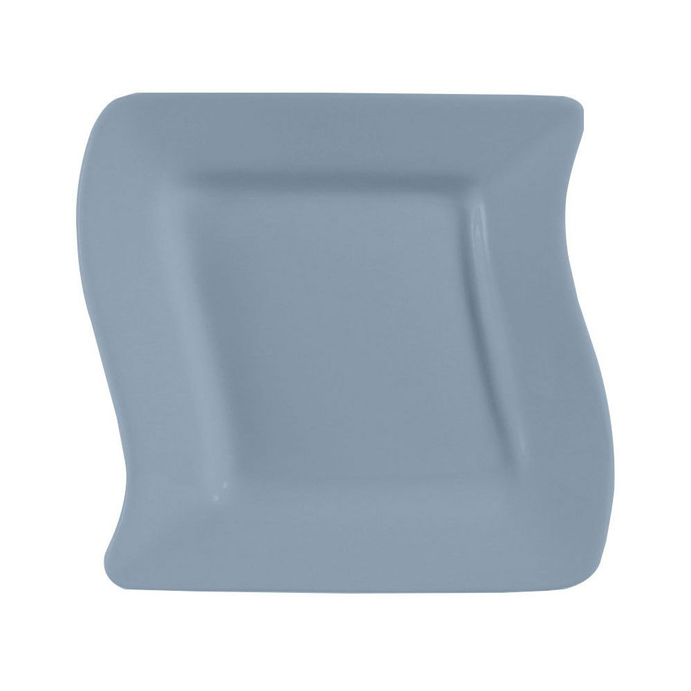 Soho Pattern 6 3/4 Inch Light Blue Square Plates/Case of 36 ...
