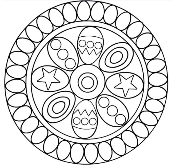 Mandalahuevopascua Jpg 731 703 Mandala Coloring Pages Mandala