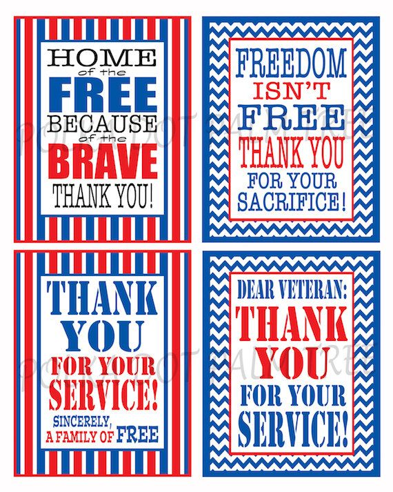 graphic about Military Thank You Cards Free Printable identified as Purple White And Blue Printable Veteran Military services Patriotic