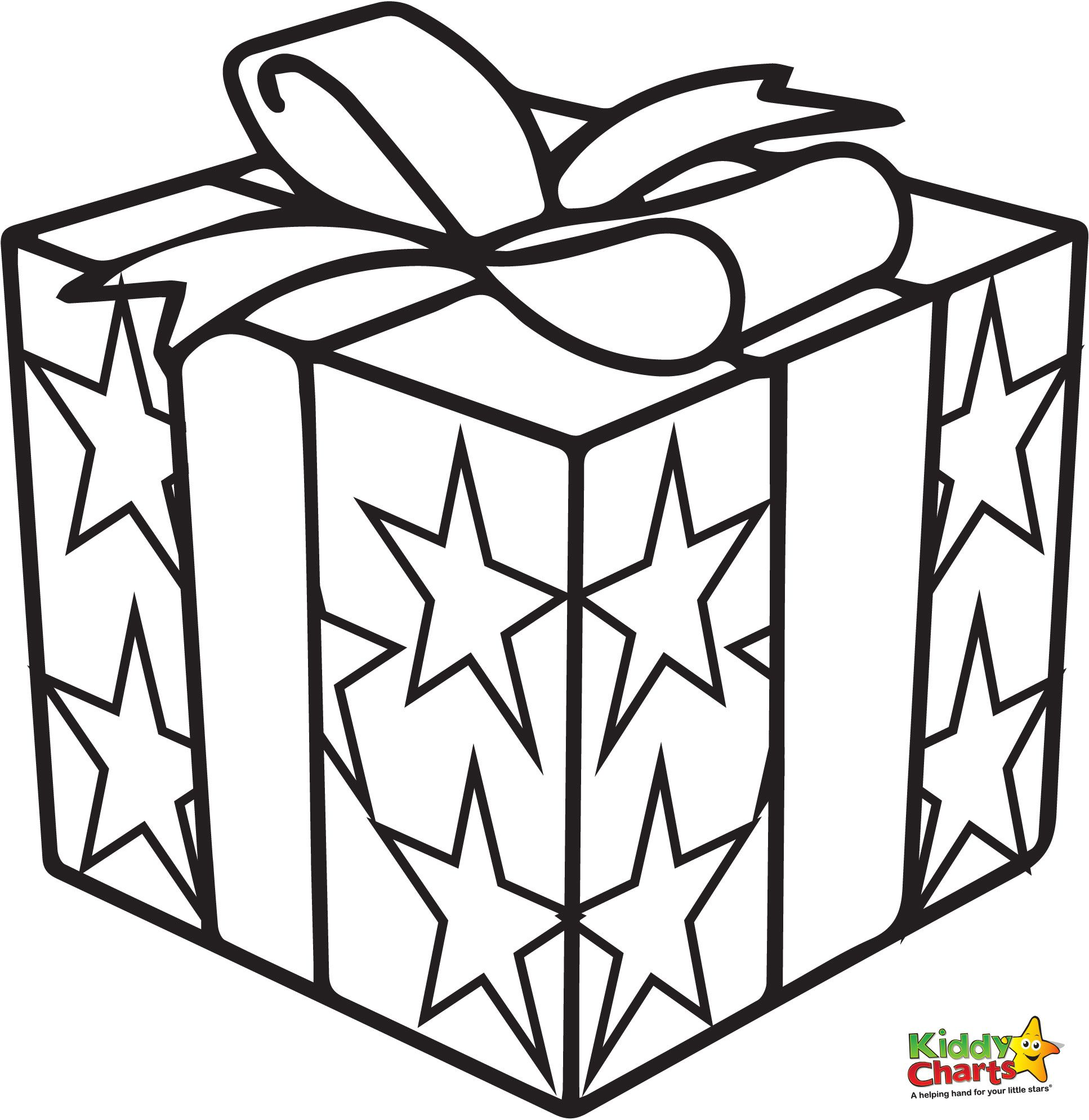present coloring pages - Christmas Present Coloring Page