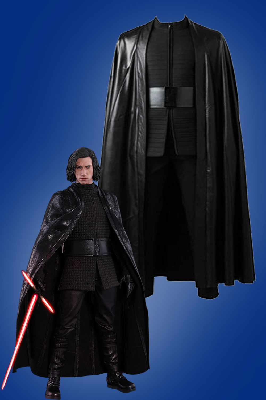 Star Wars 8 The Last Jedi Kylo Ren Cape Cloak Black Halloween Cosplay Costume Ebay Cosplay Costumes Kylo Ren Cosplay Cosplay Store
