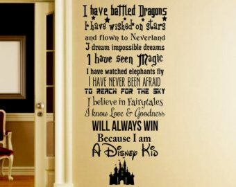Disney Wall Decor in this house we do disney wall decal -disney wall quotes-wall