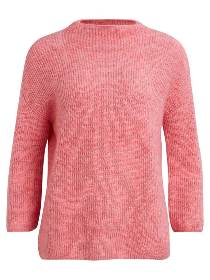 3/4 SLEEVED KNITTED TOP, Peony, large