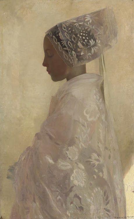 Gaston La Touche - A maiden in contemplation