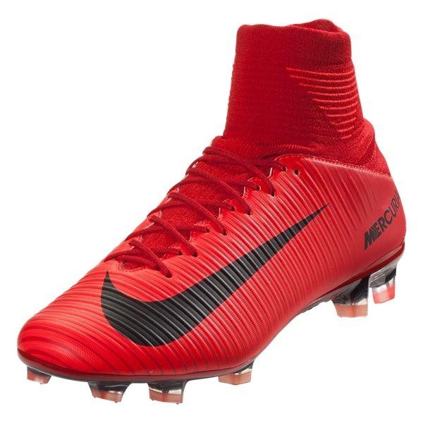 Nike Mercurial SuperFly V FG Soccer Cleats (University RedBlackBright Crimson)