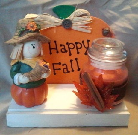 Next stop: A Touch of Ozarks Wood Crafts Page Wooden Fall Candle Table Decoration