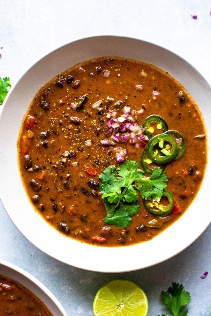 The Best Vegan Black Bean Soup Vegan Gluten Free