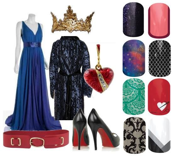 The Evil Queen from Snow White, Jamberry nail wraps http://ashleymagee.jamberrynails.net/