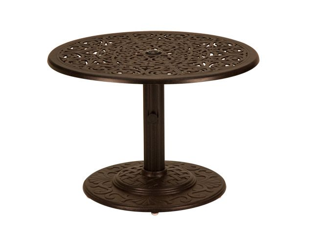 Milan 30 Round Cast Aluminum Umbrella Side Table A Chair King
