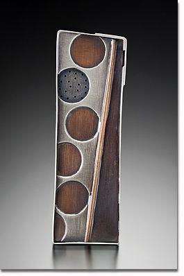 Brooch | Maja Designs. Sterling Silver, Copper, Bronze, Steel