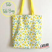 Tutoriel de couture gratuit: Cabas réversible à motifs citrons Tuto couture gra …, #aux #ba …   – My Blog