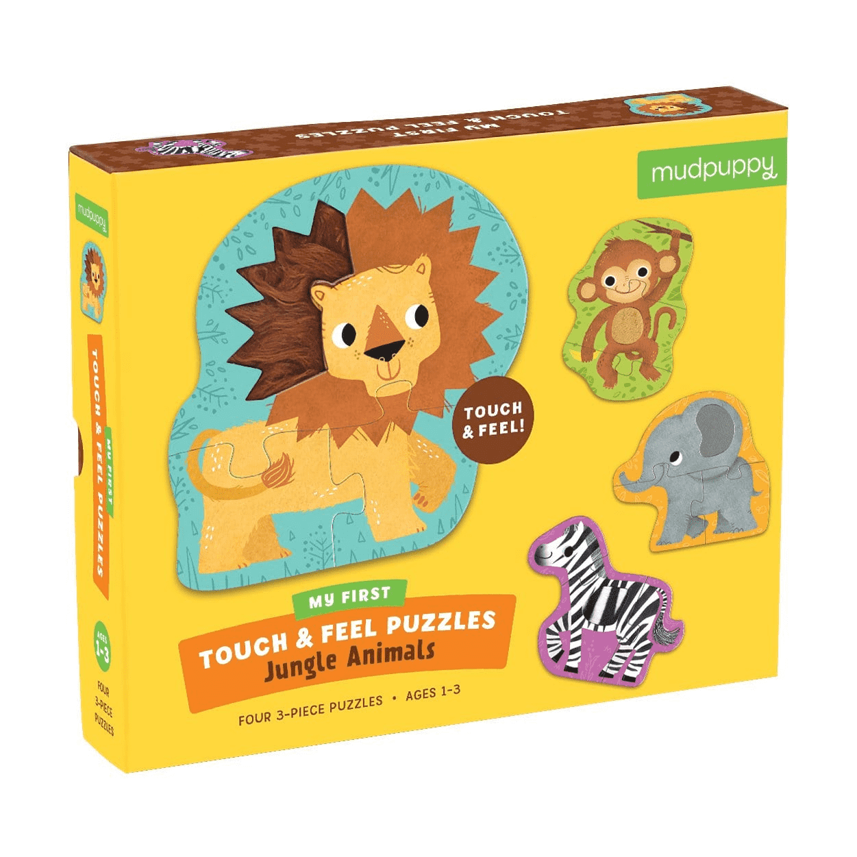 Jungle Animals My First Touch Feel Puzzles In 2020 Jungle Animals Animals Toys For Boys