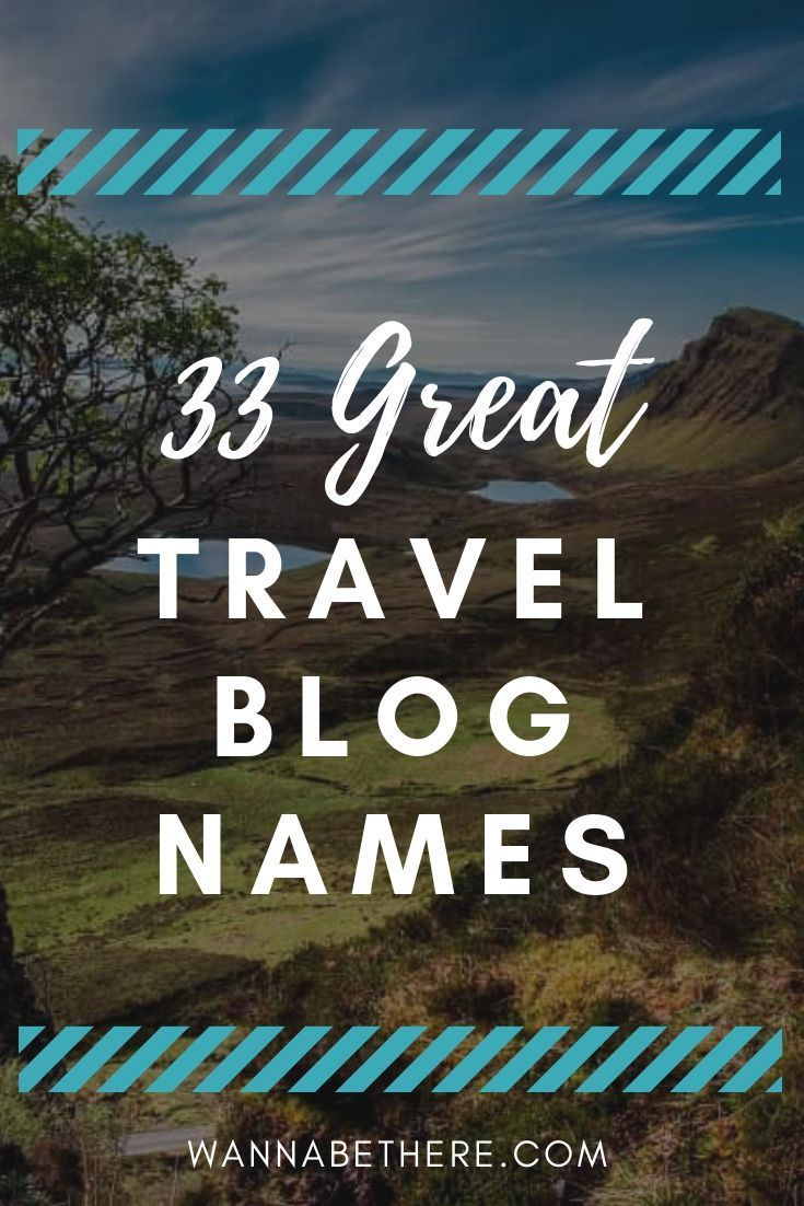 Catchy Travel Blog Names: How 33 Popular Travel Bloggers