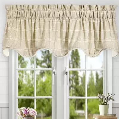 Ellis Curtain Morrison Plaid Cotton Tailored Tier Curtain Reviews Wayfair Curtains Valance Valance Curtains