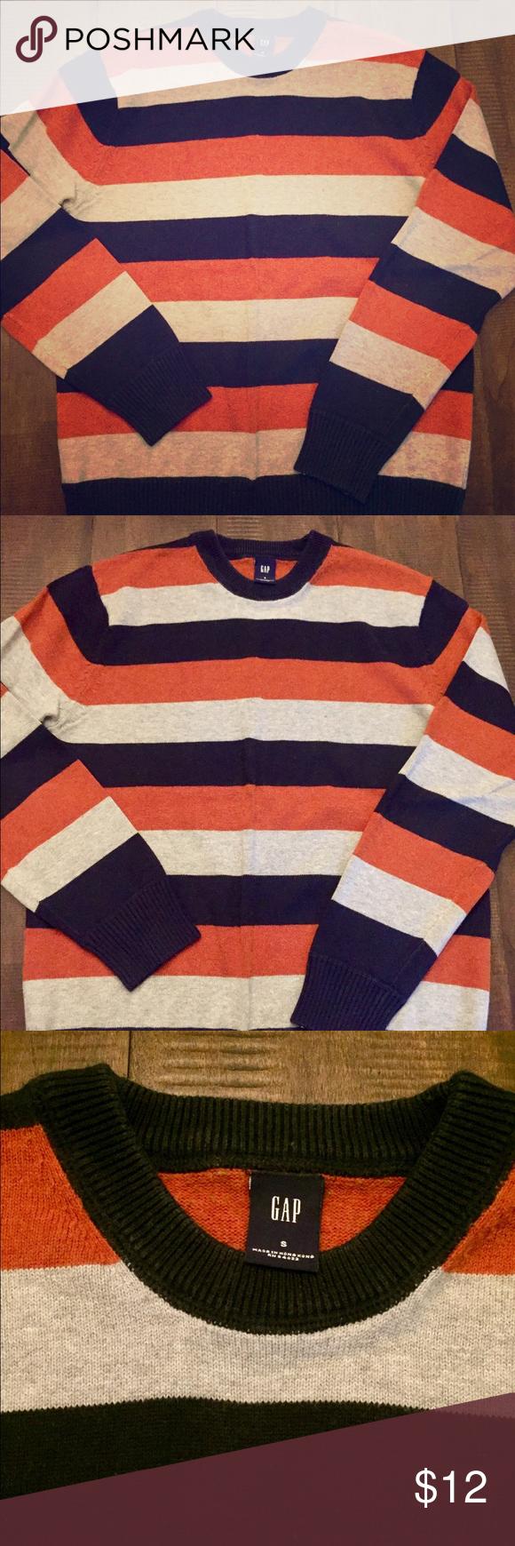 Men's GAP Striped Sweater Size Small Men's GAP Striped Sweater ...