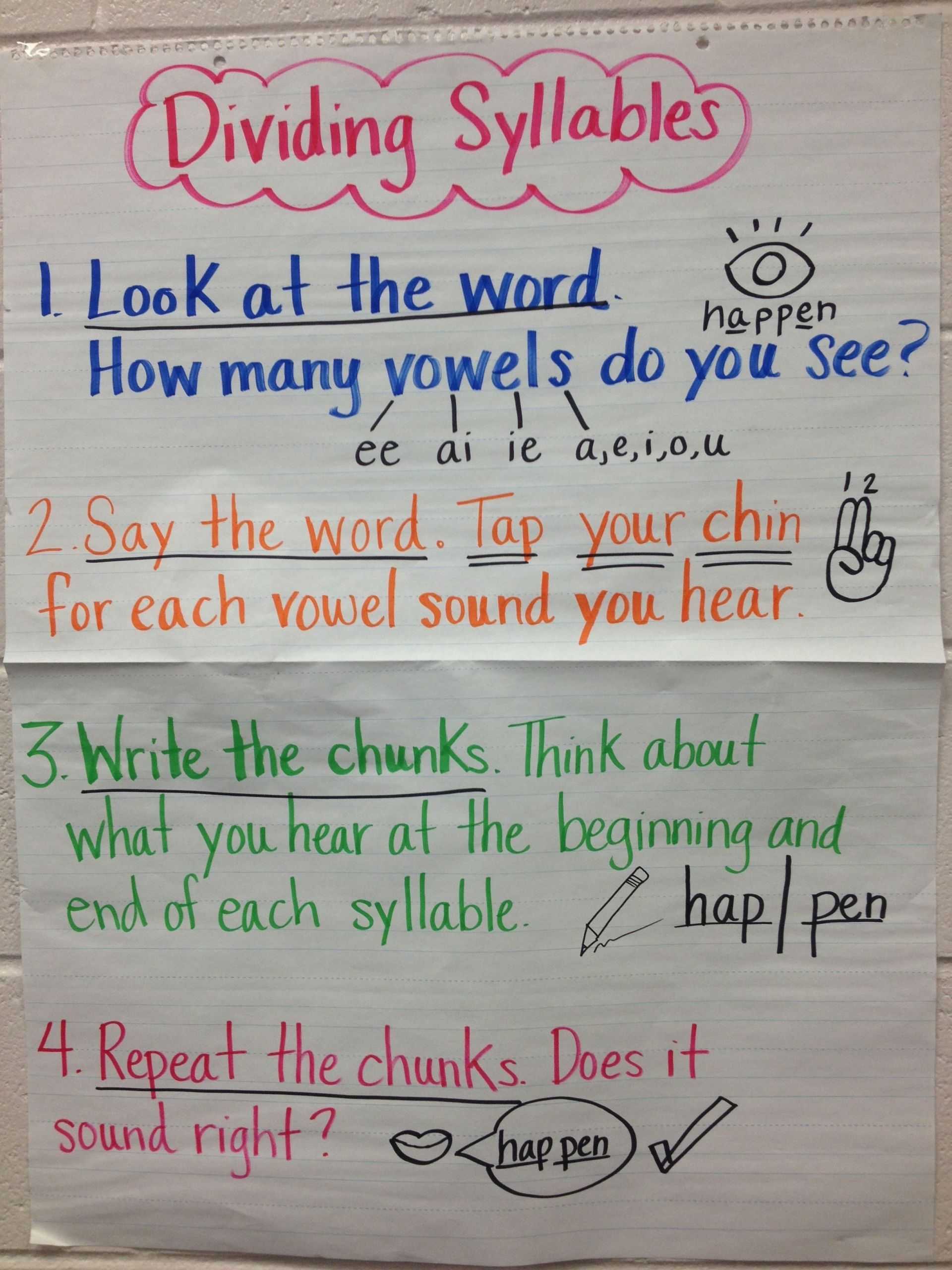 6 New Free Syllable Worksheets For Kindergarten In 2020 Syllables Anchor Charts Teaching Syllables Syllables Activities