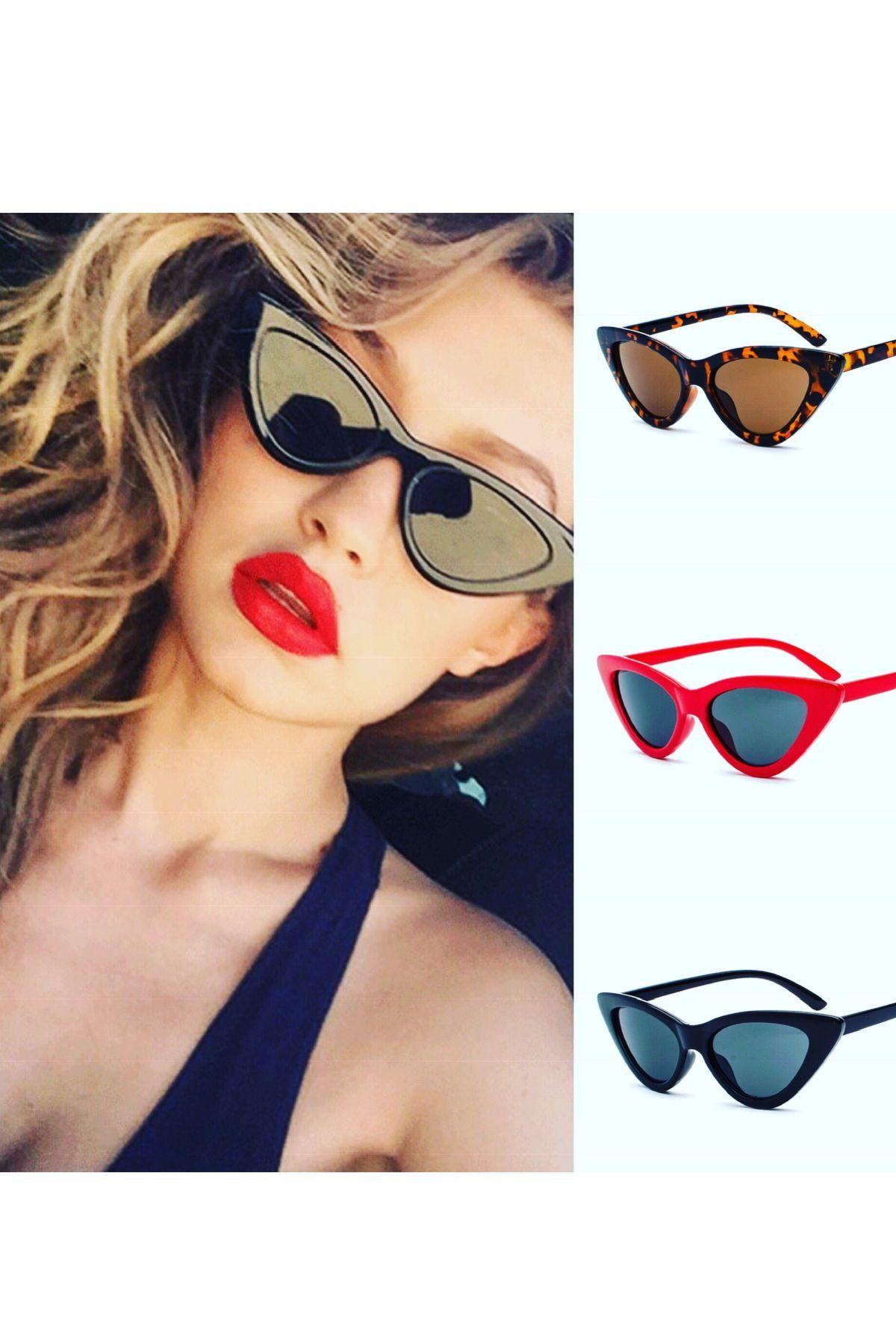 d4a0792b021 Unique Stylish Triangle Cat Eye Designer Inspired Sunglasses Gift for Women  Ladies Shades Retro Vintage Eyewear