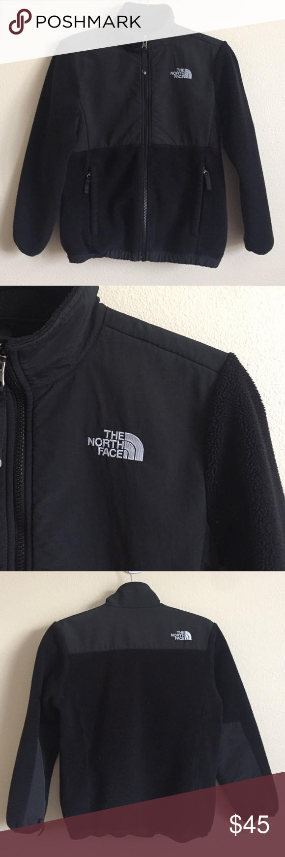 North Face Denali Fleece Coat Black North Face denali fleece coat. Has sleeve snaps so it can be easily attached to an outer shell if needed. Thick and warm. In excellent condition. North Face Jackets & Coats