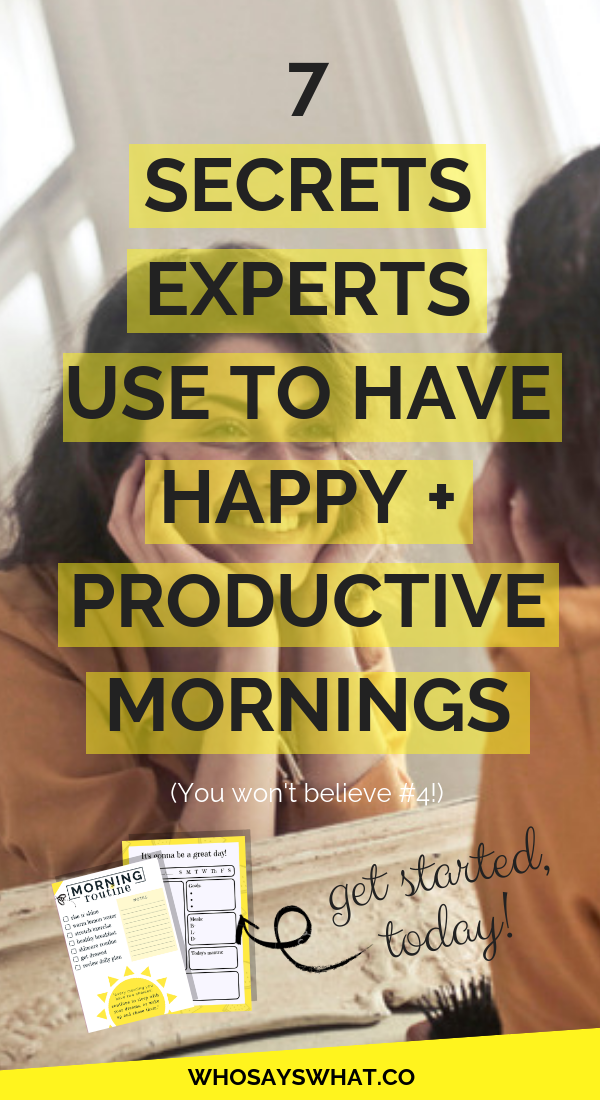 7 Morning Routines For Happier + More Productive Days is part of Organization College Morning Person - Want to wake up on the right side of the bed every morning  Initiate these morning routine tips and feel happier and healthier every single day!