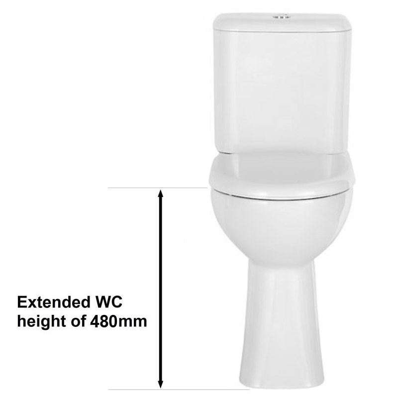White Porcelain Comfort Height Tall Toilet Tall Toilets Toilet Toilet Cistern