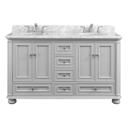 Shop Scott Living Wrightsville 60 In Light Gray Double Sink