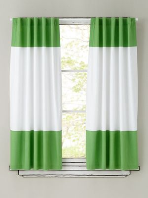 Green White Color Block Curtains Kidsroom For The Home Grey