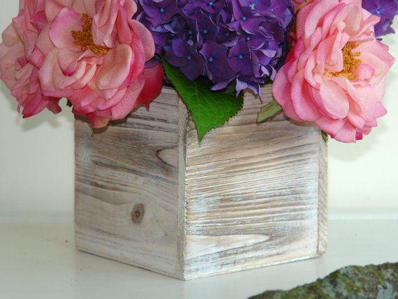 Wood Vase Wedding Flower Pot