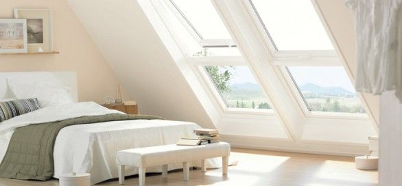 rustic white loft room in roof - Google Search