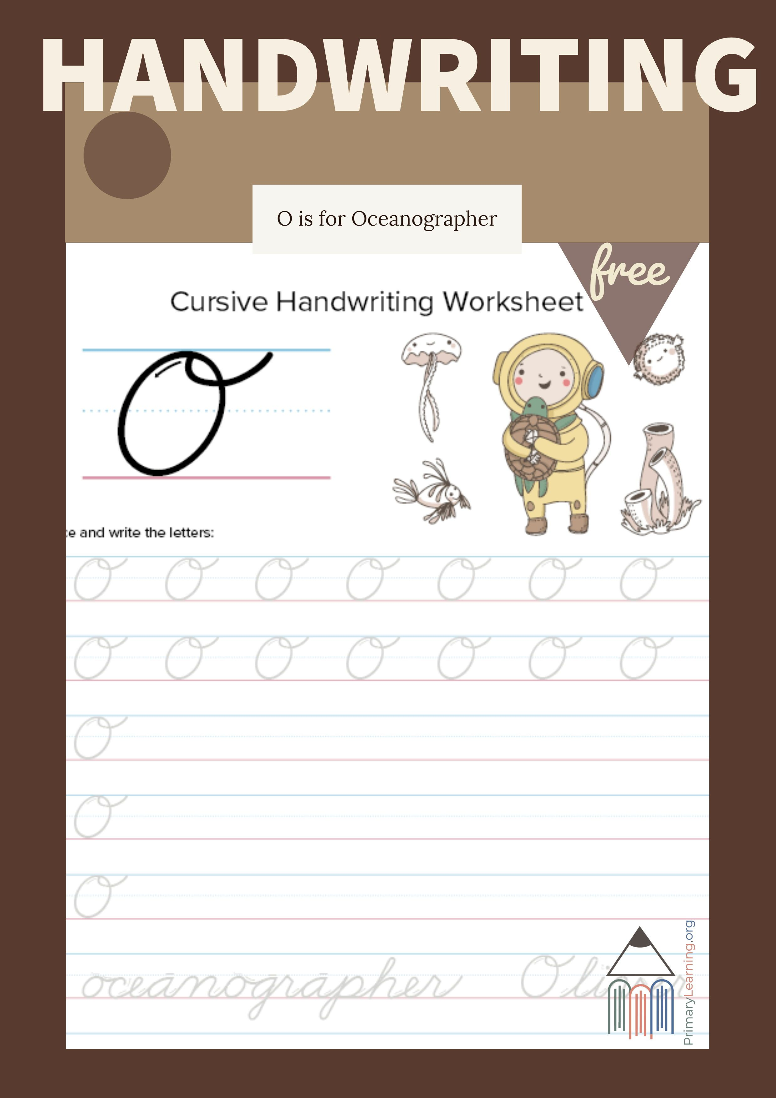 Cursive Uppercase O Worksheet