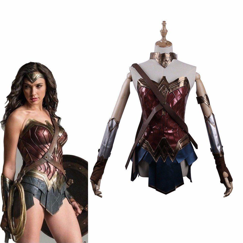 Adult Leatherette Wonder Woman Costume