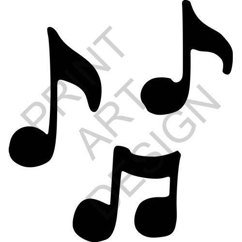 music notes print art design from embroiderydesigns com cuttable rh pinterest co uk Small Music Notes Clip Art Single Music Note Clip Art