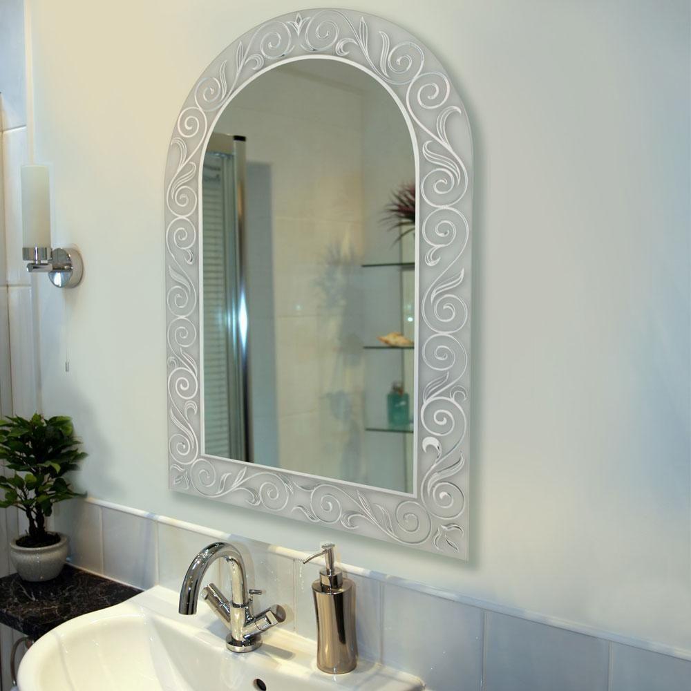 Spring Arch Bathroom Mirror With Images Mirror Mirror Wall